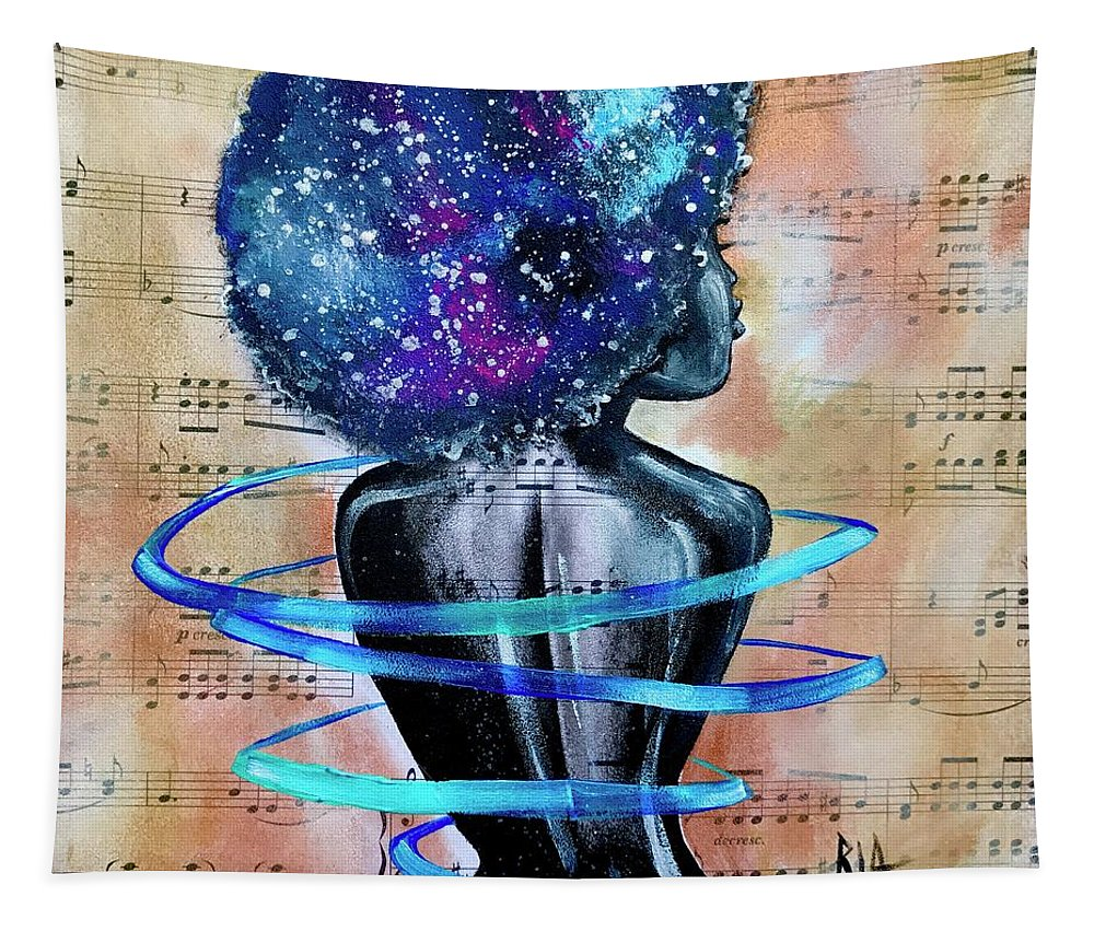 Space Tapestry featuring the painting I am her... She is Me by Artist RiA