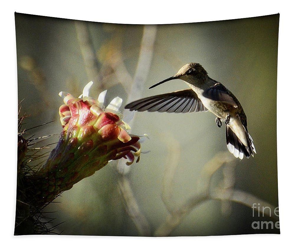 Hummingbird Tapestry featuring the photograph I Close My Eyes by Saija Lehtonen