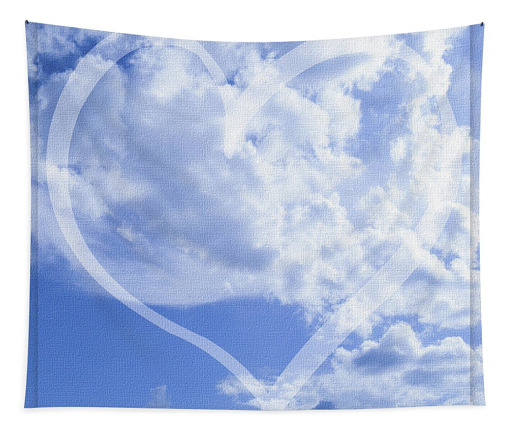 Mona Stut Tapestry featuring the photograph I Love You To The Clouds And Back by Mona Stut