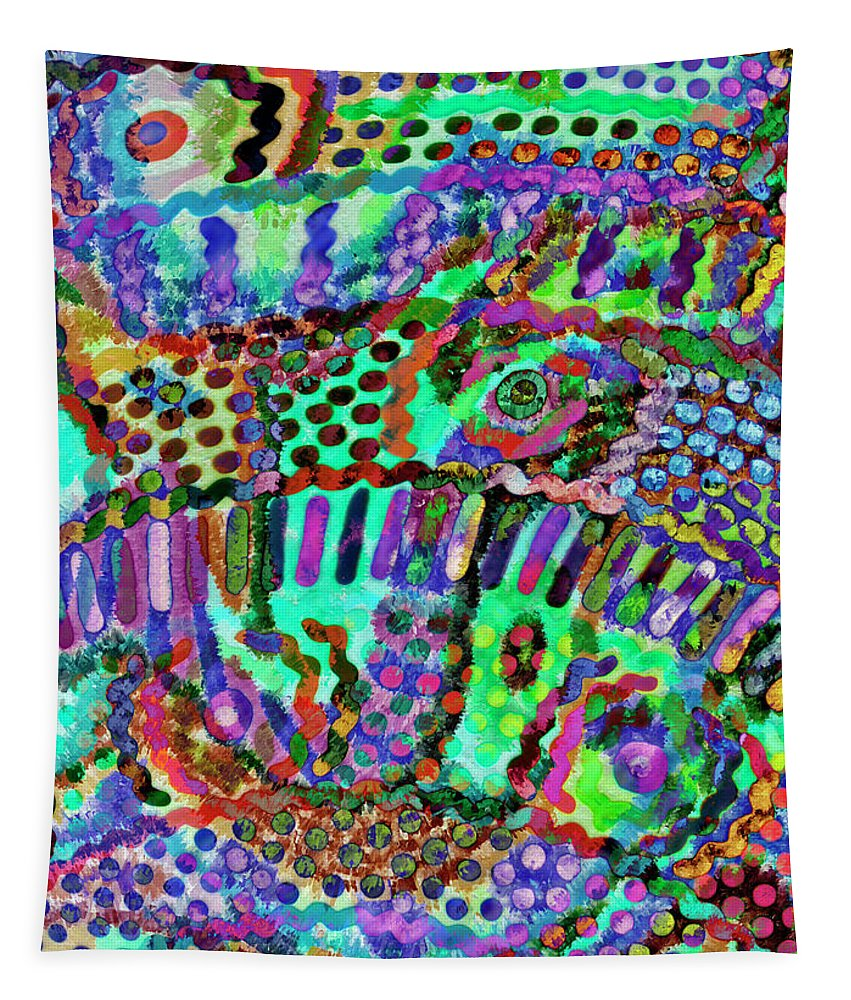 Abstract Experimentalism Tapestry featuring the digital art I Might Be Dreaming by Becky Titus