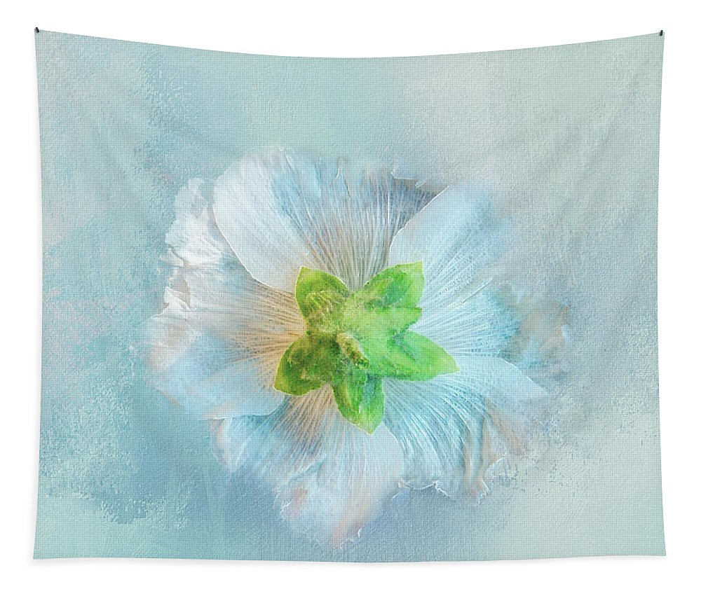 Photography Tapestry featuring the digital art Ice Blue Under by Terry Davis