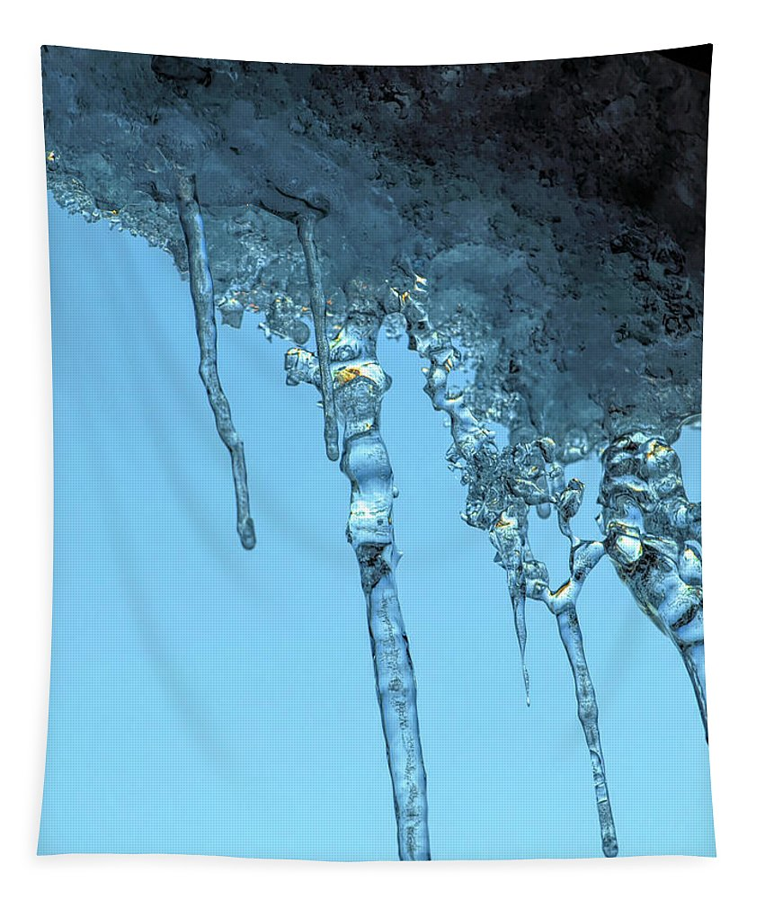 Tapestry featuring the photograph Ice Photo 2 by Barry King