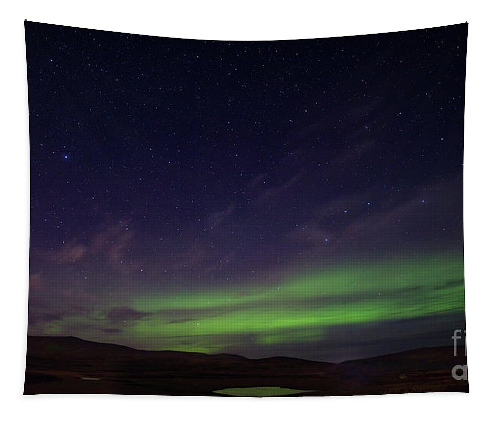 Astronomy Tapestry featuring the photograph Iceland Aurora by Jerry Fornarotto