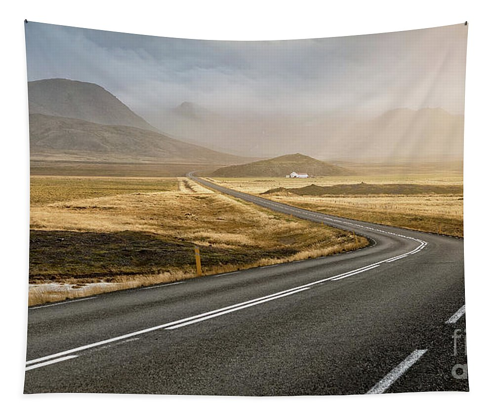 Asphalt Tapestry featuring the photograph Iceland Ring Road 1 by Jerry Fornarotto