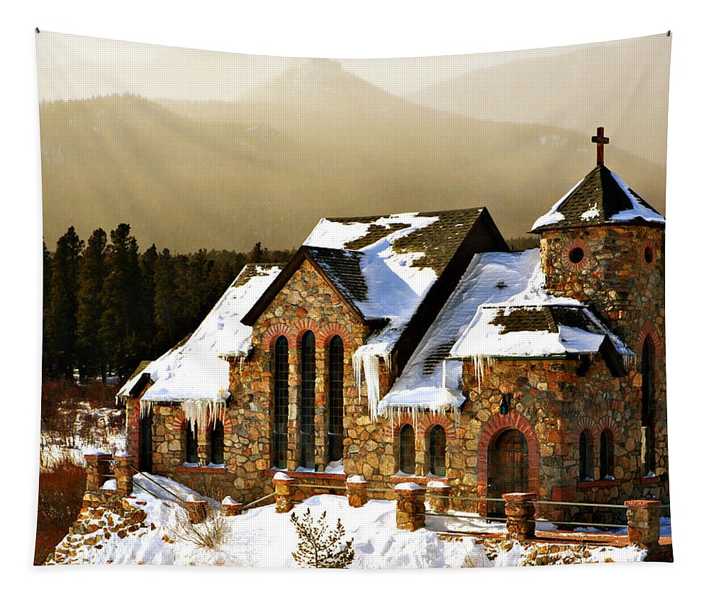 Americana Tapestry featuring the photograph Icicles by Marilyn Hunt