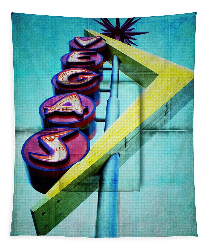 Alicegipsonphotographs Tapestry featuring the photograph Iconic Vegas Squares by Alice Gipson