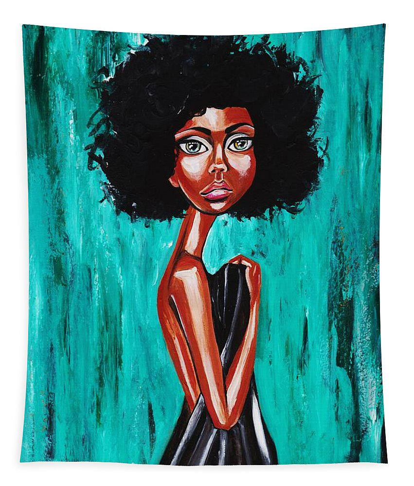 Afro Tapestry featuring the photograph If From Past Sins Ive Been Washed Clean-why Do I Feel So Dirty by Artist RiA