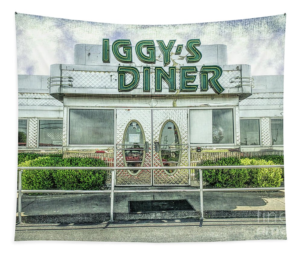 Iggy Tapestry featuring the photograph Iggy's Diner by Lynn Sprowl