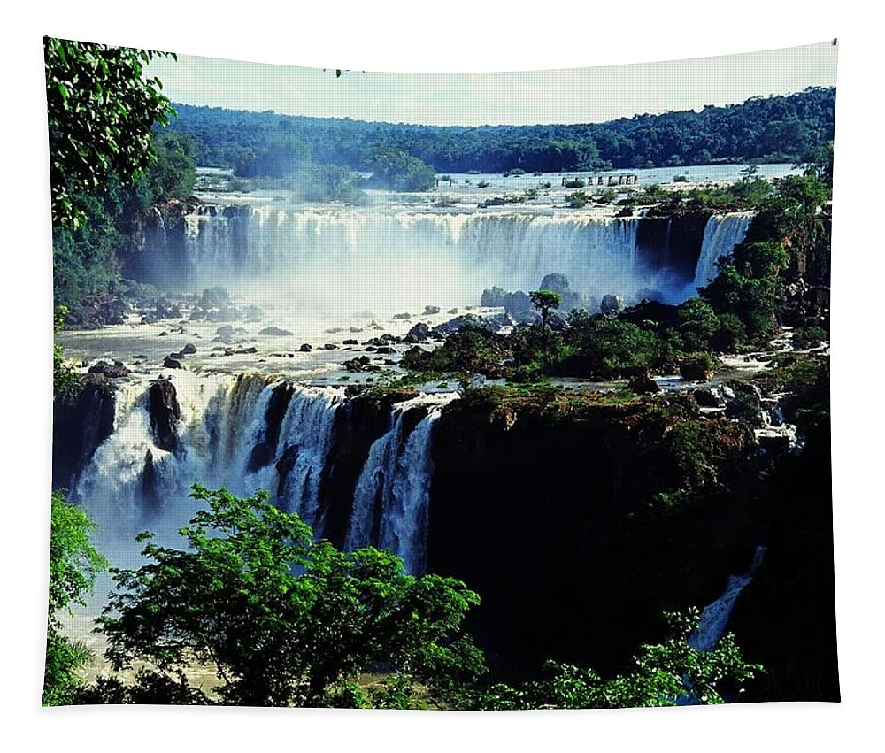 South America Tapestry featuring the photograph Iguacu Waterfalls by Juergen Weiss