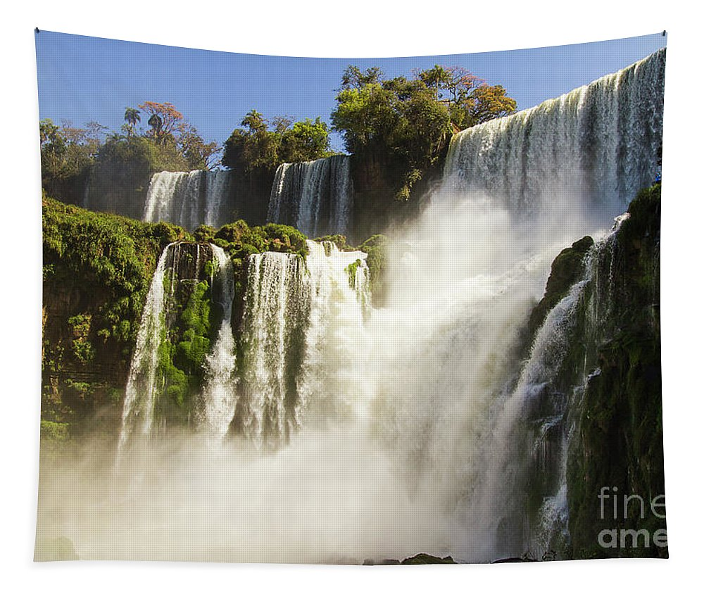Nature Tapestry featuring the photograph Iguazu Falls by Mirko Chianucci