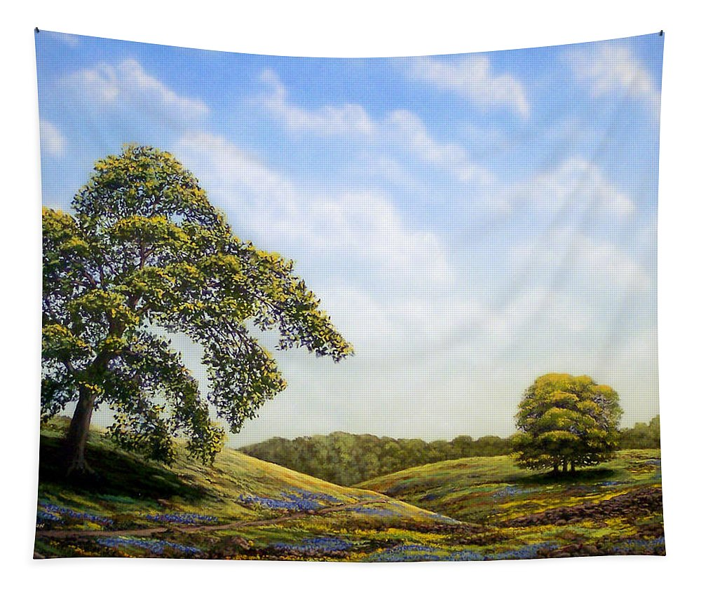 Landscape Tapestry featuring the painting In Bloom by Frank Wilson