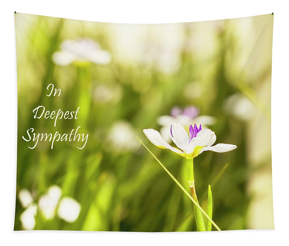 Sympathy Tapestry featuring the photograph In Deepest Sympathy by Kay Brewer