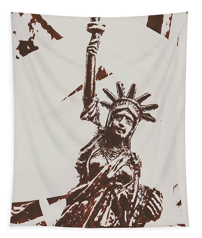 New York Tapestry featuring the photograph In Liberty Of New York by Jorgo Photography - Wall Art Gallery