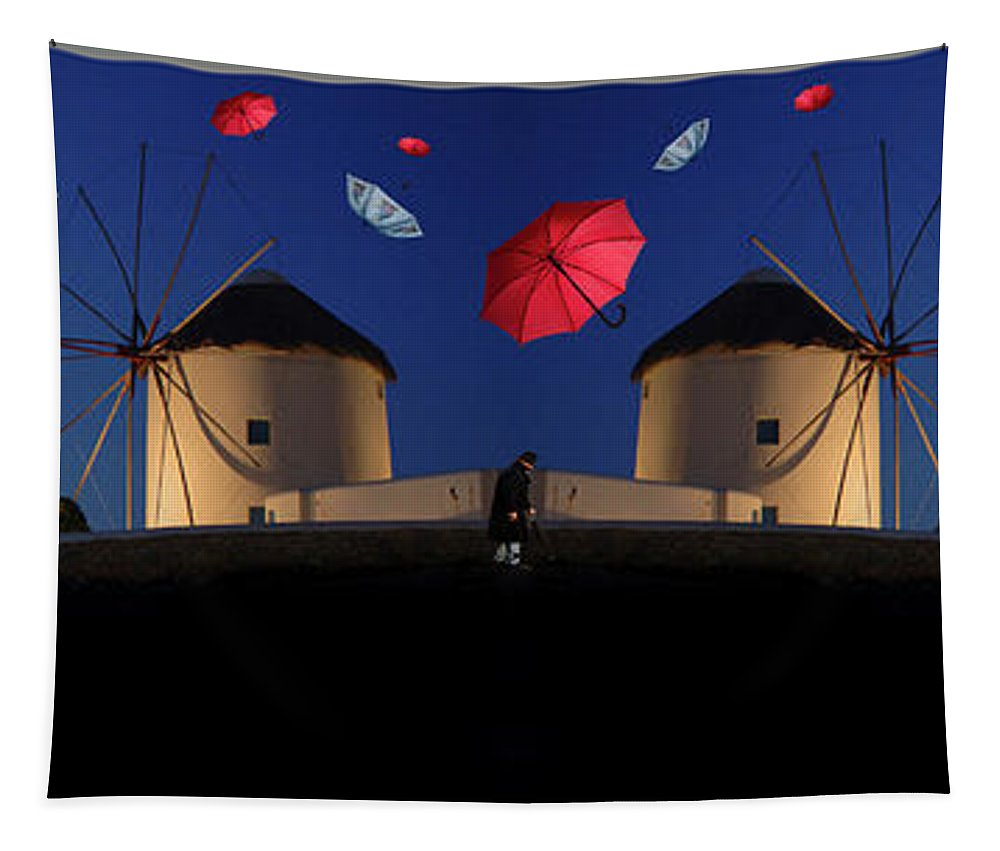 Umbrellas Tapestry featuring the photograph In Search Of Beauty 2 by Bob Christopher