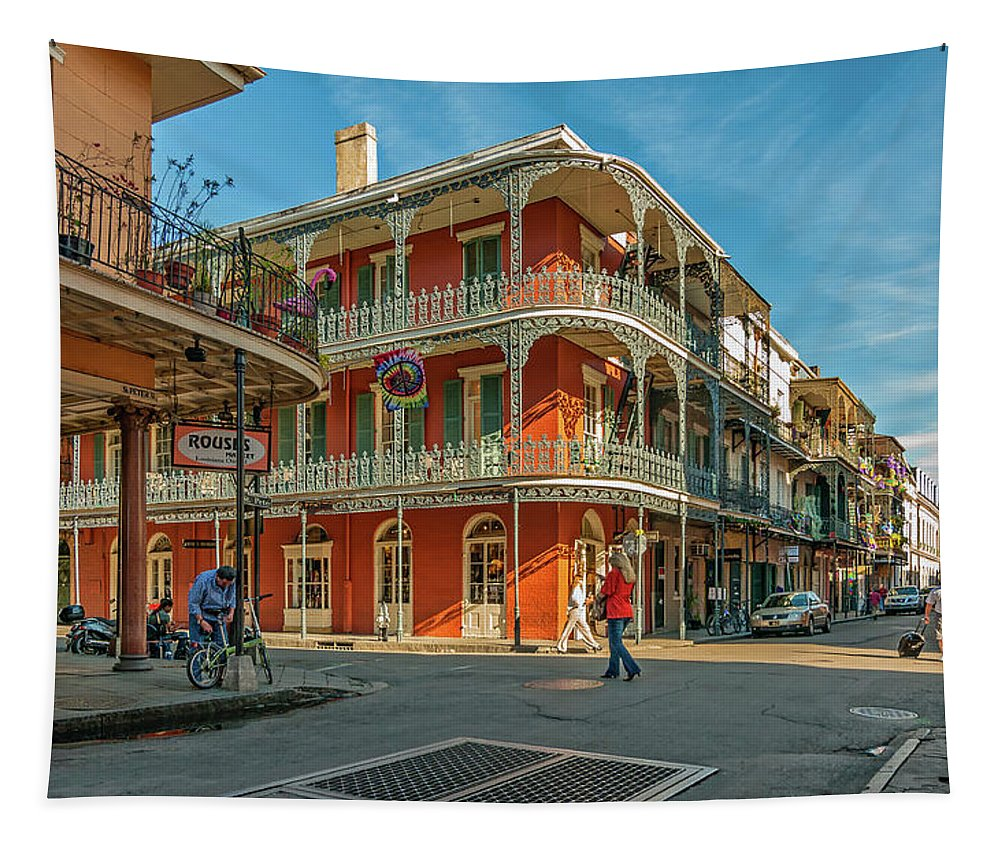 French Quarter Tapestry featuring the photograph In The French Quarter - 3 by Steve Harrington
