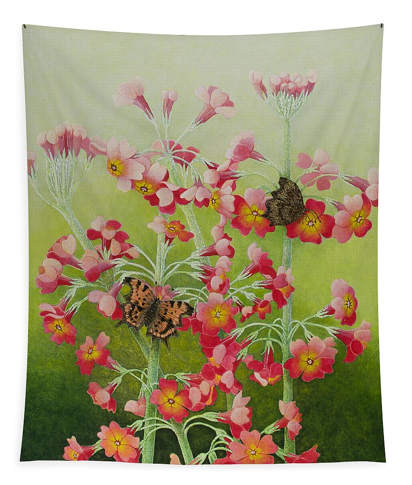 Still-life Tapestry featuring the painting In The Pink by Pat Scott