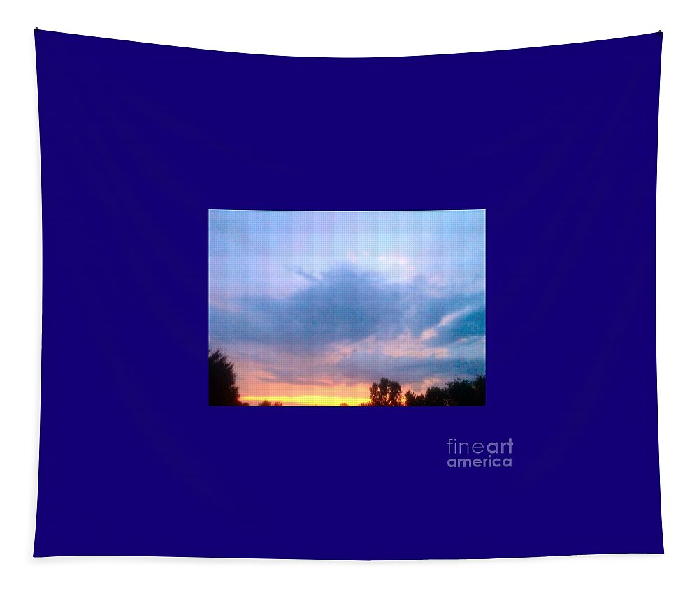 Blue Tapestry featuring the photograph In The Sky Above And Below by Debra Lynch