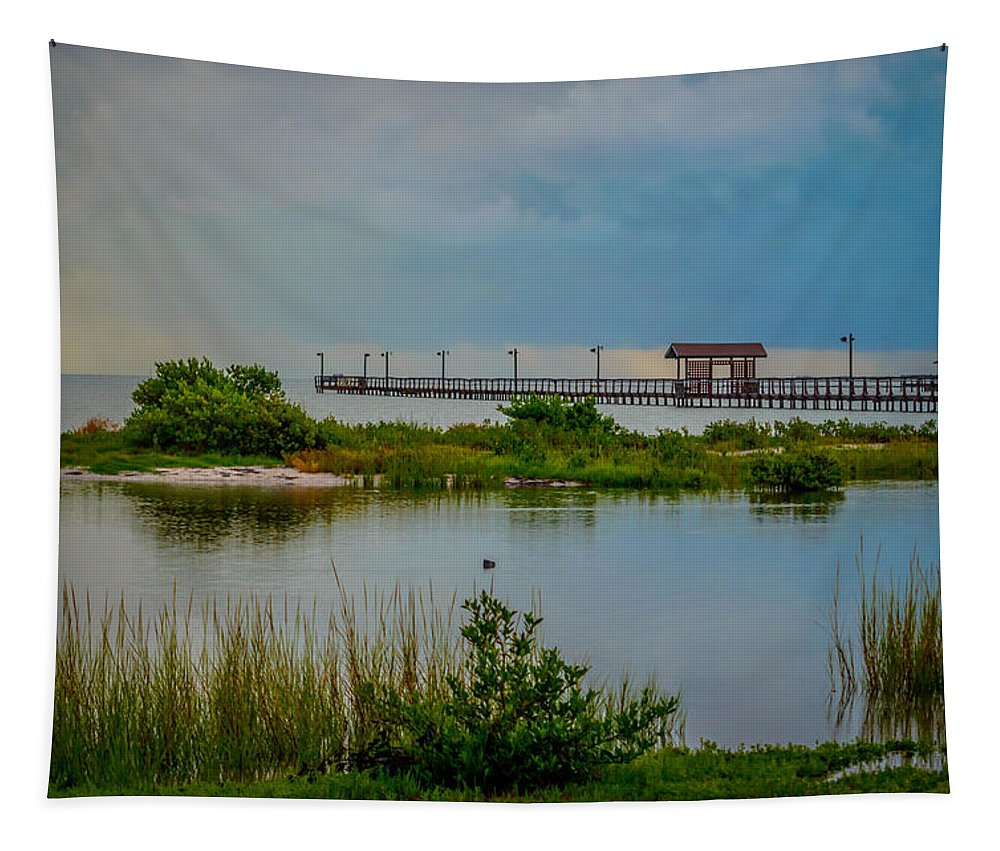Rain Tapestry featuring the photograph In The Still Of The Morning by Leticia Latocki