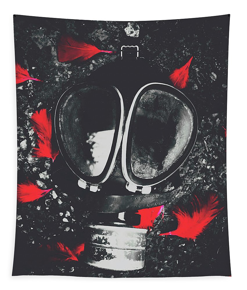 Mask Tapestry featuring the photograph In Wars Wraith by Jorgo Photography - Wall Art Gallery