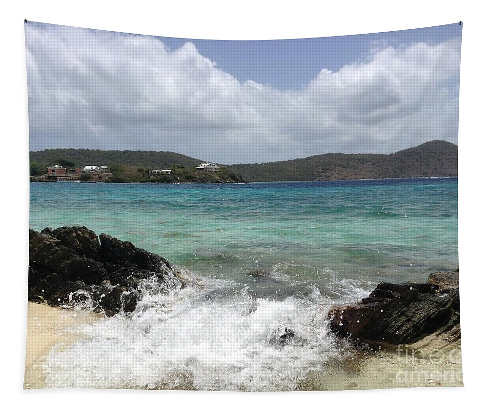 Waves Tapestry featuring the photograph Incoming Tide by Gina Sullivan