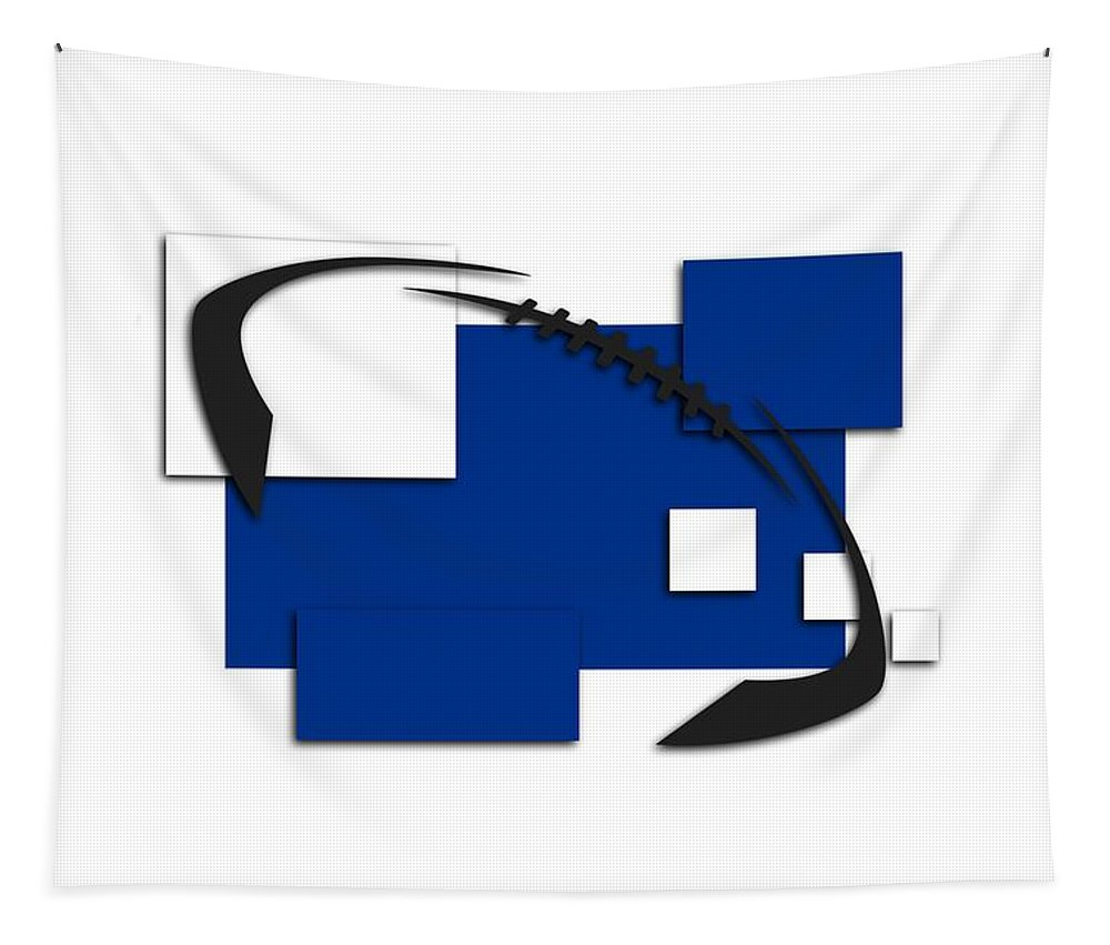 Colts Tapestry featuring the photograph Indianapolis Colts Abstract Shirt by Joe Hamilton