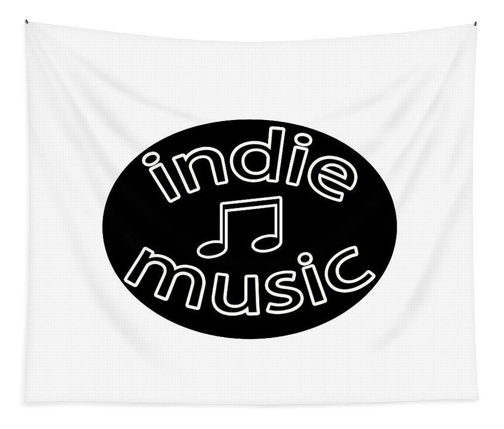 Typography Tapestry featuring the photograph Indie Music by Bill Owen