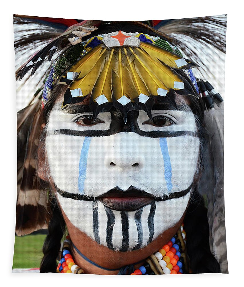 Indigenous Tapestry featuring the photograph Indigenous People Canada 3 by Bob Christopher