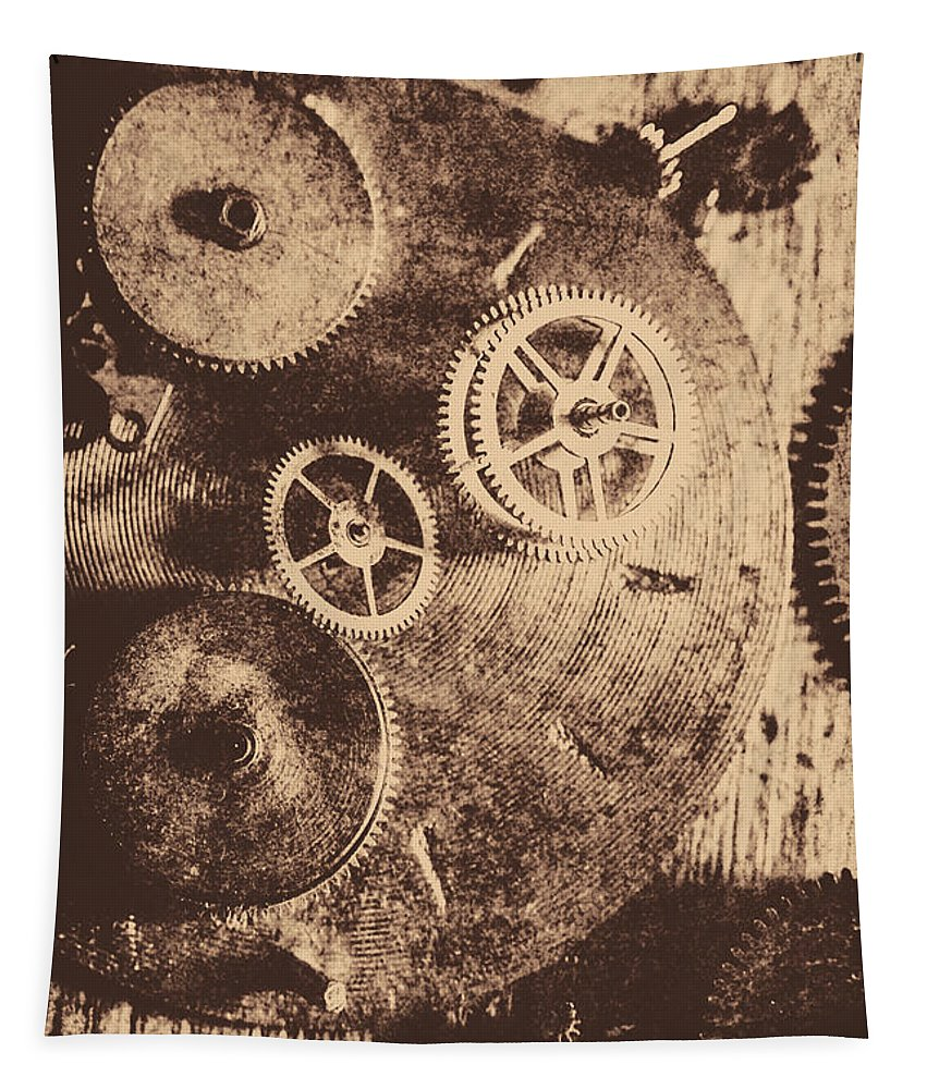 Vintage Tapestry featuring the photograph Industrial Gears by Jorgo Photography - Wall Art Gallery