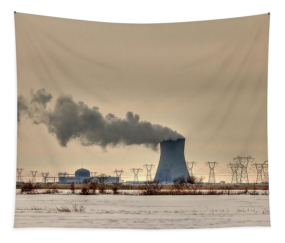 Clouds Tapestry featuring the photograph Industrialscape by Evelina Kremsdorf