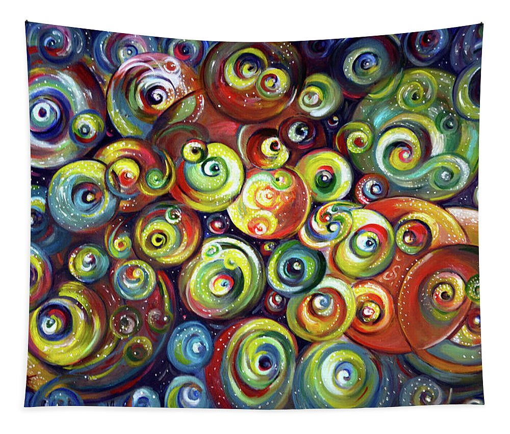 Cosmos Tapestry featuring the painting Infinite Cosmic - Abstract by Harsh Malik