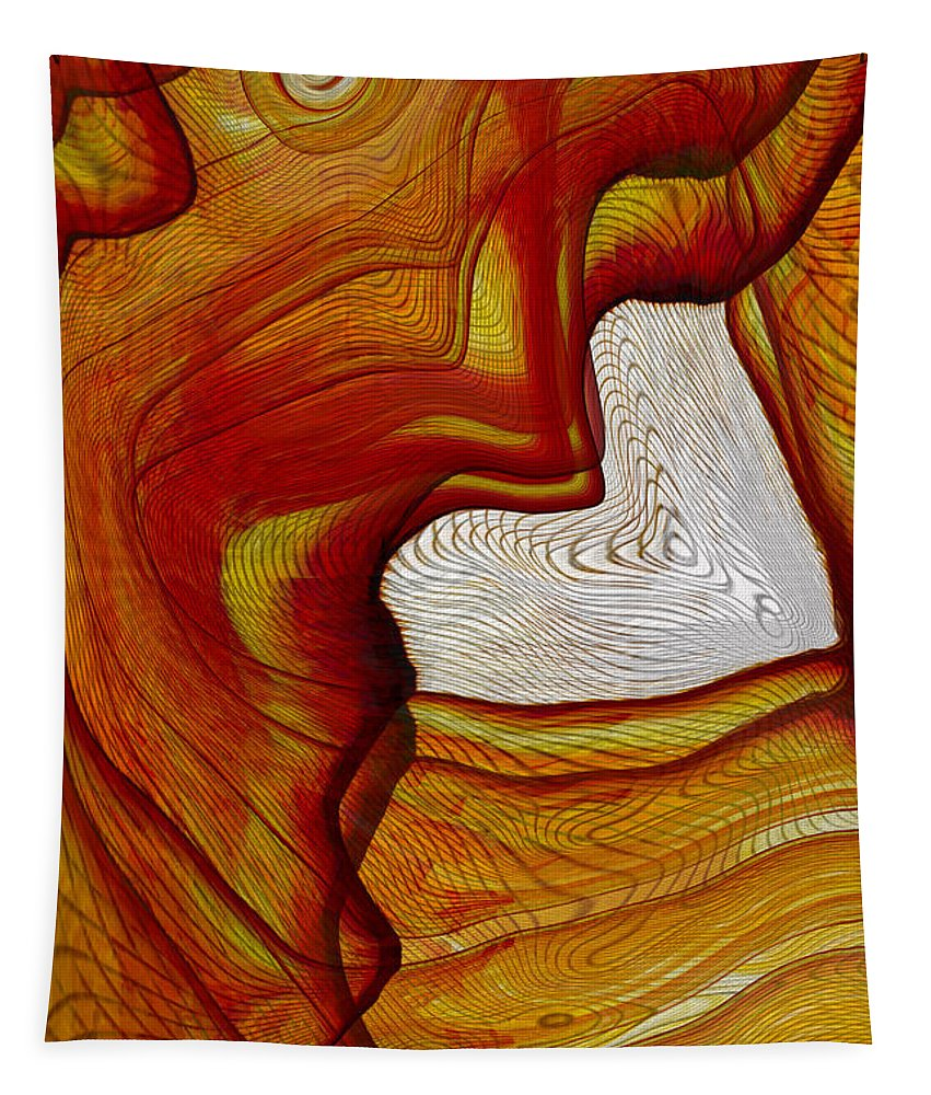 Hearts Tapestry featuring the digital art Ink Heart by Linda Sannuti