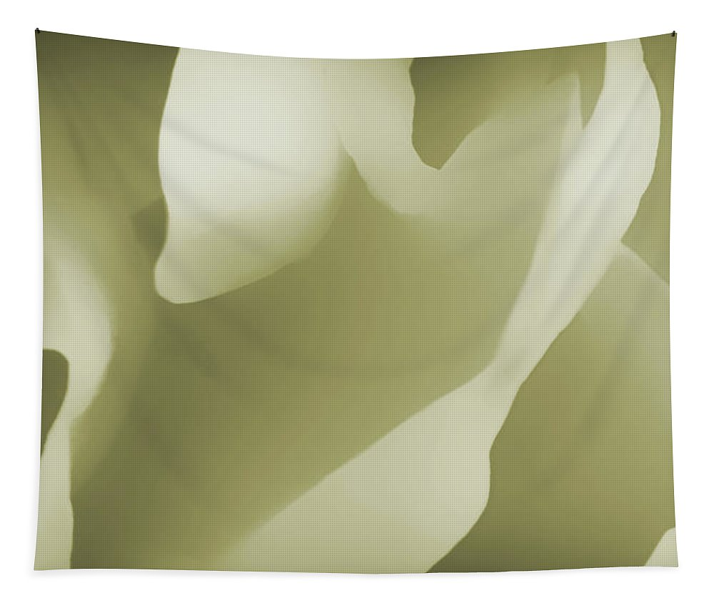 Abstract Tapestry featuring the photograph Inner Landcapes - Pale Yellow by Philip Openshaw