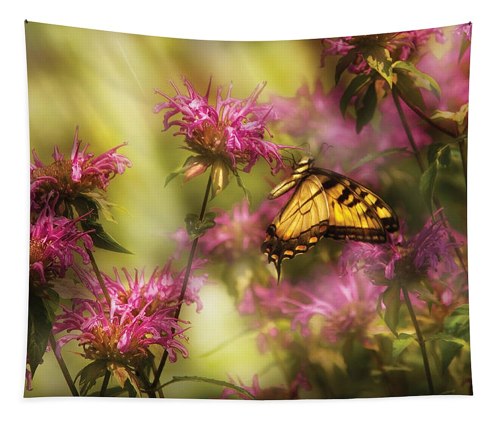 Savad Tapestry featuring the photograph Insect - Butterfly - Golden Age by Mike Savad