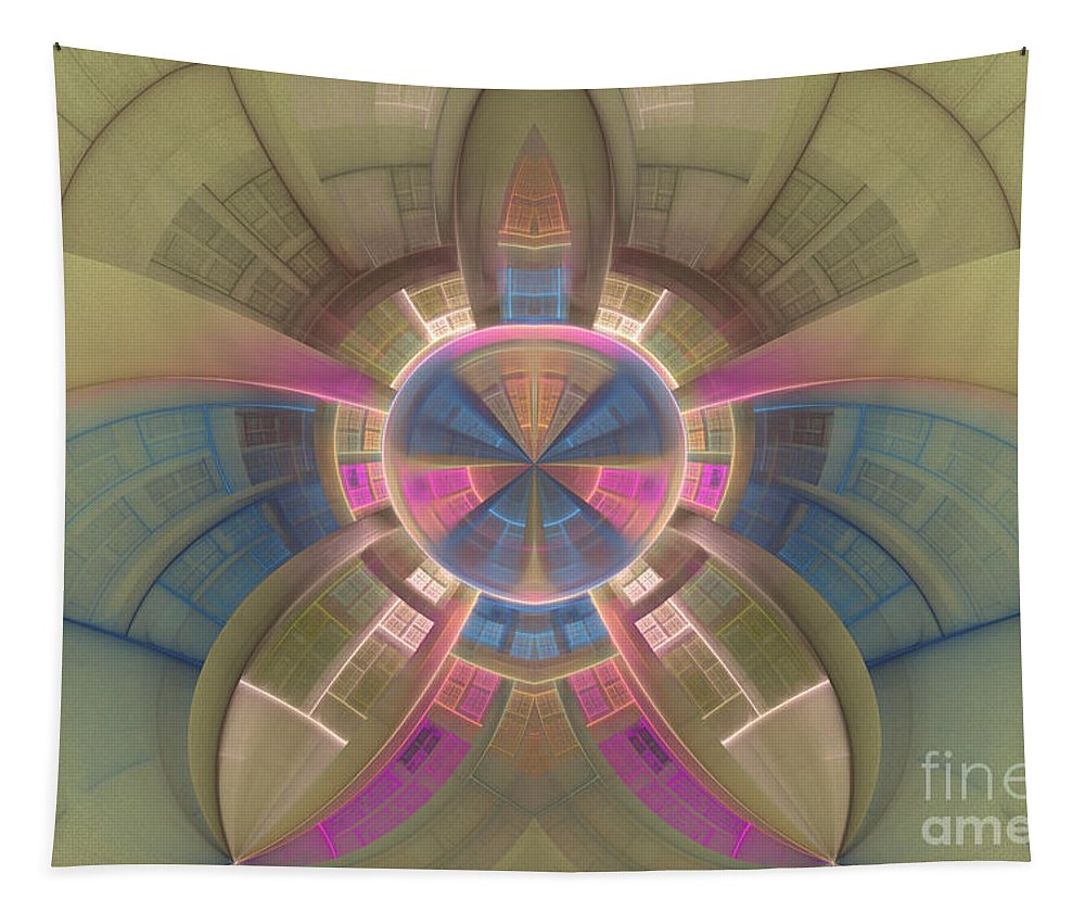 Pastels Tapestry featuring the digital art Inside The Dome by Deborah Benoit