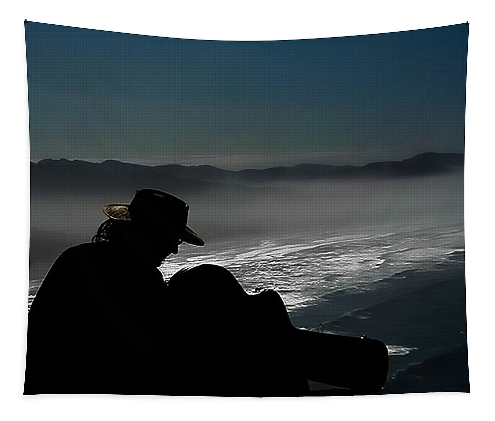 Oregon Coast Tapestry featuring the photograph Inspired By The Mist by David Patterson