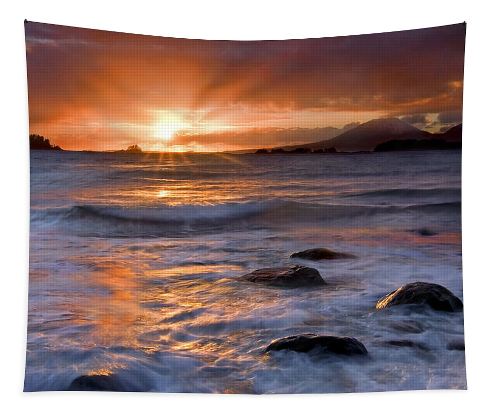 Alaska Tapestry featuring the photograph Inspired Light by Mike Dawson