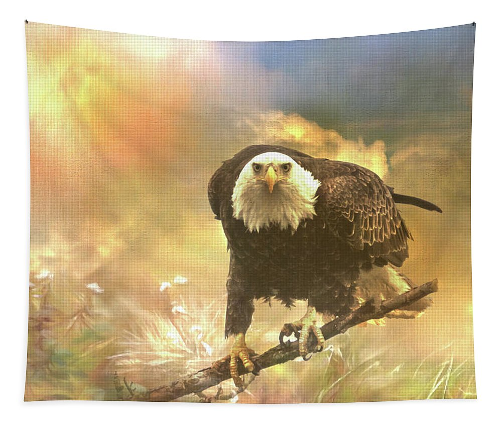 Eagle Tapestry featuring the photograph Intense Eagle Stare by Patti Deters