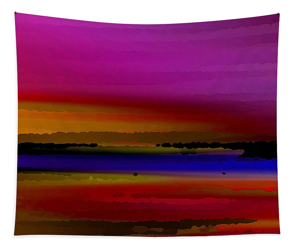 Abstract Tapestry featuring the digital art Intensely Hued by Ruth Palmer