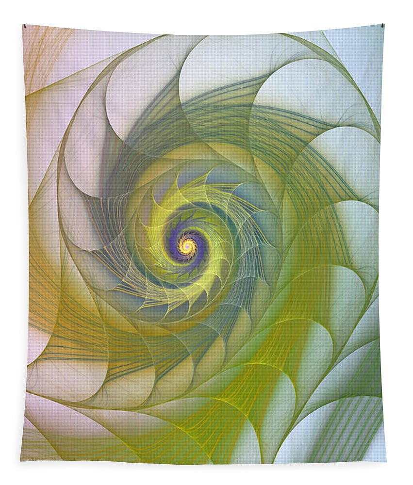 Fractal Tapestry featuring the photograph Into The Inner Kingdom by Deborah Benoit