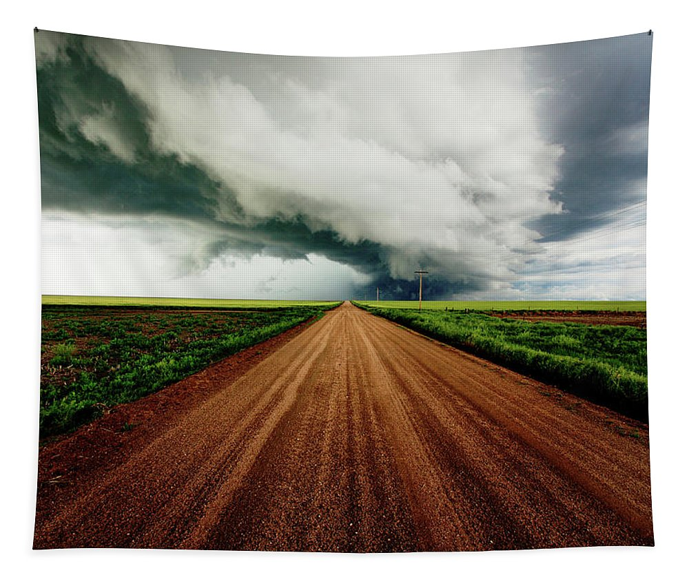 Weather Tapestry featuring the photograph Into The Storm by Brian Gustafson