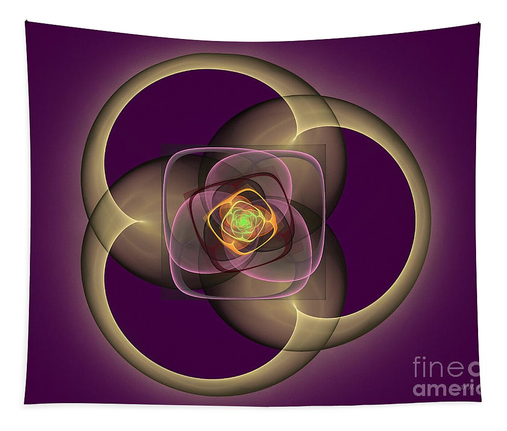 Digital Tapestry featuring the digital art Intrinsica Creation by Deborah Benoit