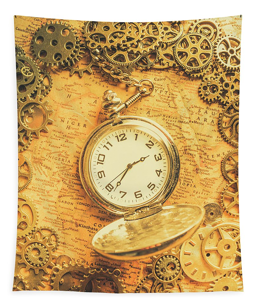 Machine Tapestry featuring the photograph Invention Of Time by Jorgo Photography - Wall Art Gallery