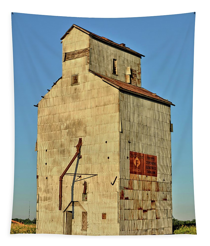 Chapin Tapestry featuring the photograph Iowa Skyscraper by Bonfire Photography
