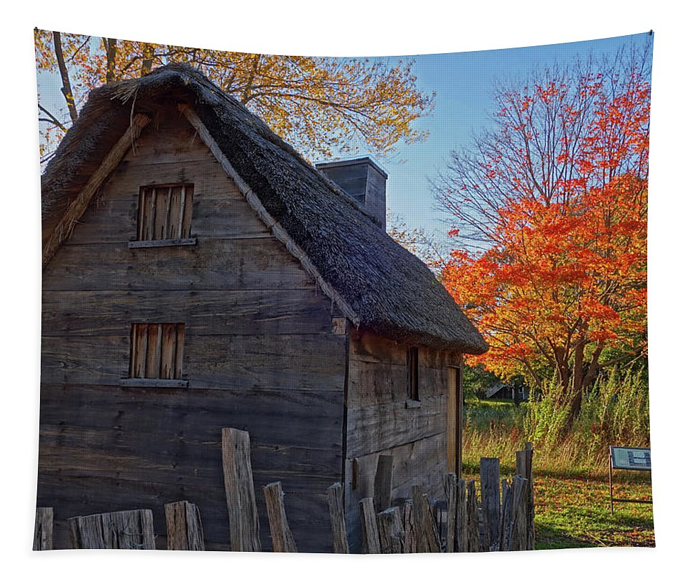 Ipswich Tapestry featuring the photograph Ipswich Museum Autumn Tree Ipswich Ma by Toby McGuire