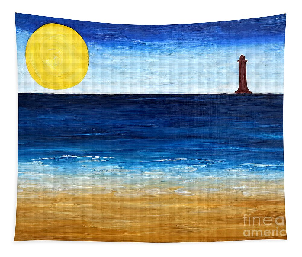 Lighthouse Tapestry featuring the painting Irish Landscape 12 by Patrick J Murphy