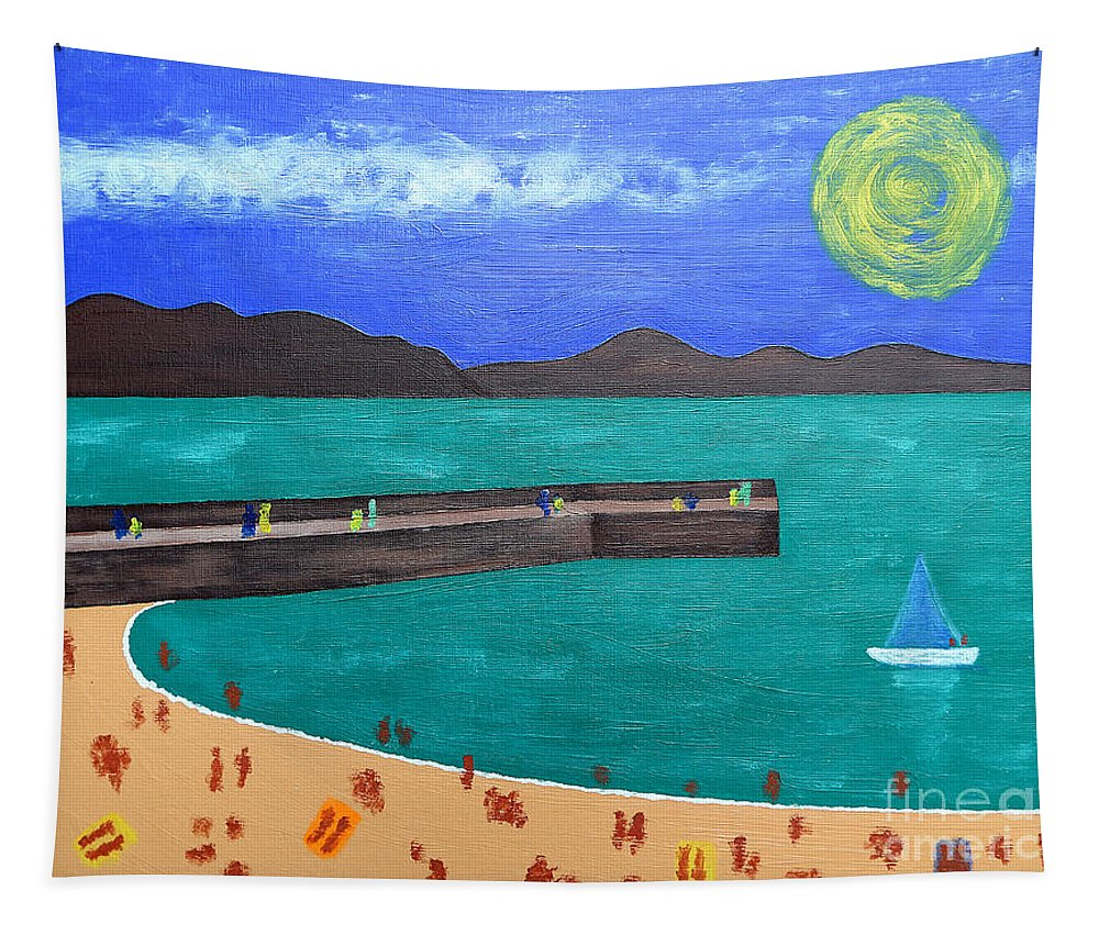 People Tapestry featuring the painting Irish Landscape 13 by Patrick J Murphy