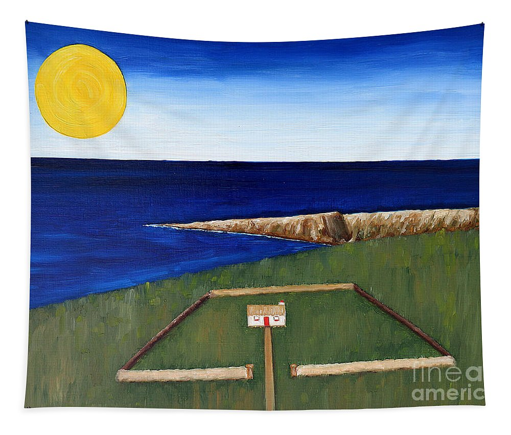 House Tapestry featuring the painting Irish Landscape 19 by Patrick J Murphy