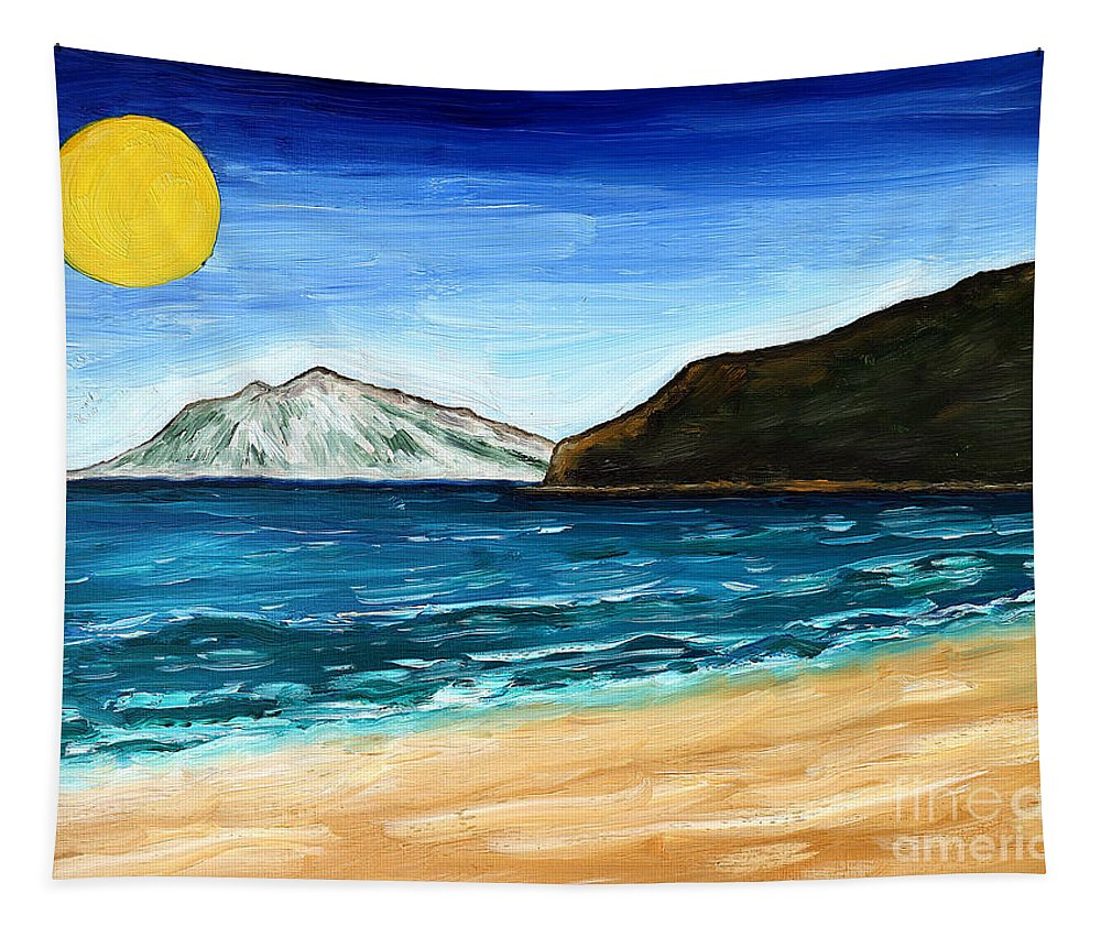 Breezy Tapestry featuring the painting Irish Landscape 21 by Patrick J Murphy