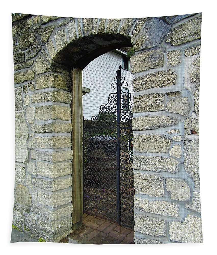 Door Tapestry featuring the photograph Iron Gate To The Garden by D Hackett