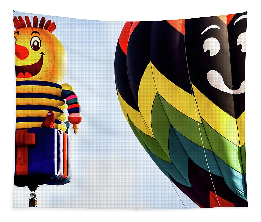 Hot Air Balloon Tapestry featuring the photograph Is That A Rocket In Your Pocket by Bob Orsillo